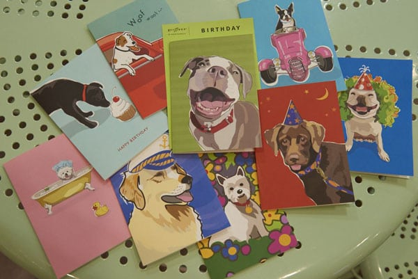 Greeting cards for a special dog